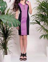 Edas abito donna elegante Cico tubino tunica taglie forti curvy maniche lunghe