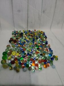 Huge Lot of Marbles, Handmade, Stone, Metal, etc. more then 300 marbles