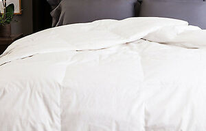 Allied Essentials Cotton Damask Down Comforter full queen 550 FP year round