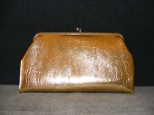 Vintage Gold Clutch Purse Evening Hand Bag by Celebrity Inc of New York