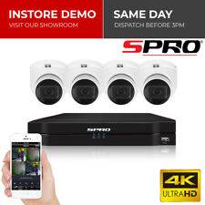SPro 4 8 16 Channel HD 8MP 4K Night Vision CCTV DVR Home Security System Kit