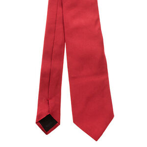 RRP €150 DOLCE & GABBANA Silk Classic Necktie Red Fully Lined Made in Italy
