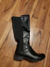 Tall black boots 9W