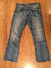 Men's Big Star Orion Slim Bootcut Jeans Sz 32 Inseam 32 Distressed
