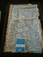 "Vintage Quaker Lace Embassy Pattern 1100 Natural Tablecloth 54 x 70"" USA MIB"