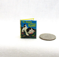 THE POKY LITTLE PUPPY Readable Miniature Book Dollhouse Book 1:12 Scale Book