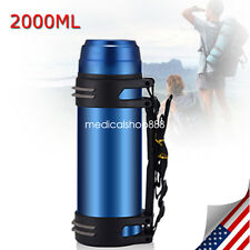 2L Stainless Steel Outdoor Travel Insulated Mug Potable Vacuum Cup USA SHIP FDA