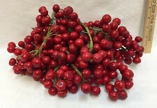 Berry Picks Wire Red Cherry Cranberry for Floral Crafts Arrangements Holly 30