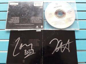 METALLICA autogramm cd BLACK ALBUM signed live concert
