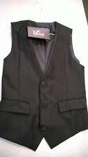 NWT - Ultra Slim Fit Black Fancy Formal 3 Button Fullback Vest - Mens XS