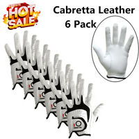 Golf Gloves Men Leather 6 Pack Left Right Hand Weathersof Lh Rh XL Large ML US