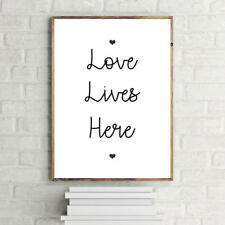 INSPIRATIONAL MOTIVATIONAL TYPOGRAPHY POSITIVE LIFE LOVE QUOTE PRINT.