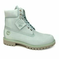 "TIMBERLAND A1OGW MEN'S 6"" PREMIUM LIGHT BLUE WATERPROOF INSULATED BOOTS"
