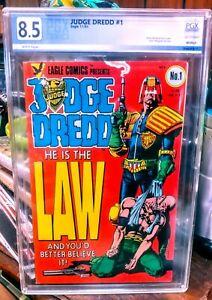 Judge Dredd #1 PGX 8.5 WP Pristine Slab! Eagle Comics HOT!