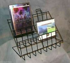 Counter CD/DVD & Literature Display Rack - 3 Tier 6 Pocket (Black)