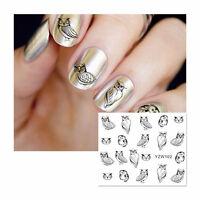 Nagelsticker Fingernägel Aufkleber Tattoo Nail Art Nageldesign Eule YZW-102