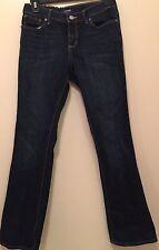 Old Navy Girls Size 12 Plus-Adjustable Waist Boot Cut Jeans Dark