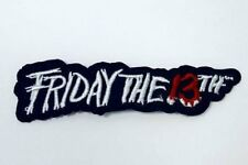 """Friday the 13th Jason Iron On Patch 4"""" x 3/4"""" Free Shipping by Envelope Mail"""