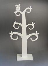 *Metallbaum*Schmuckbaum mit Eule*Baum*Deko-Baum*Frühling*Weiß*Neu