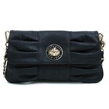 Women's Small Handbag Soft Leather Shoulder Purse Clutch Crossbody Bag Black