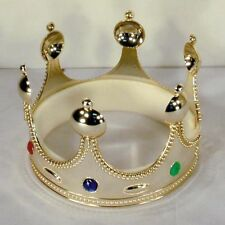 King Crown W Jewels toy Crowns party hat medieval cap