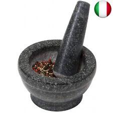 1816024-kesper 71501 Mortaio con Pestello in Granito lucidato 16x8 cm