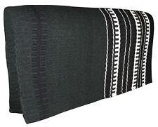 "NEW Dark Green Western Saddle Show Pad Blanket Navajo New Zealand Wool 33"" x 32"""