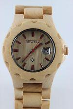 Bewell reloj de madera fecha Sándalo 42mm producto a regalo hombre mujer traje