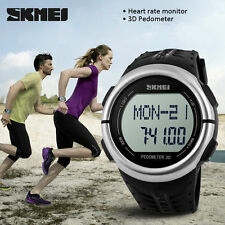 Silicone/Rubber Band Sport Unisex Watches with 12-Hour Dial