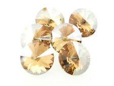 Swarovski Foiled Rivoli Stones Art.1122 18mm Golden Shadow 6 Pieces cc