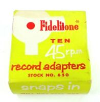 Vintage FIDELITONE 45 RPM Record ADAPTER #650 Lot of 8