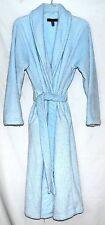 Stan Herman Pale Blue Soft Cuddly Plush Womens Robe with Tie Belt Size M