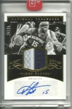 2014-15 NATIONAL TREASURES NIGHT MOVES PATCH AUTO VINCE CARTER /25 GRIZZLIES