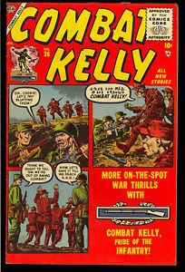 Combat Kelly #36 Very Nice Late Golden Age Atlas War Comic 1956 FN-VF
