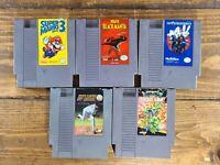 Original NES Nintendo Game Lot Super Mario Bros. 3,Black Manta,TMNT,Ghostbusters