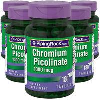 Ultra Chromium Picolinate 1000 mcg 5X180 Tabs Piping Rock