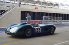 PHOTO  TWO LEGENDS TOGETHER RICHARD ATTWOOD AND THE ASTON MARTIN BBR1. SILVERSTO