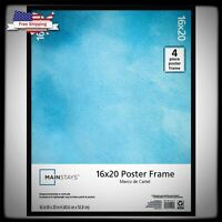 Mainstays Black 16x20 Poster Large Picture Frame For Wall Bedroom