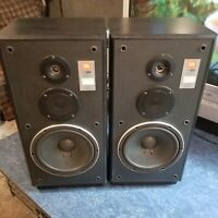 Vintage JBL CF100 Speakers Black Stereo Speakers Made in USA. Free Shipping!