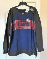Women's Plus-Size Majestic New York Giants Long-Sleeve Fleece Shirts,Size 3X,NWT