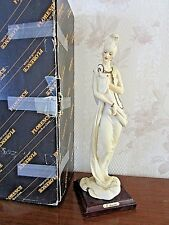 """G. Armani Figure Figurine Statue Sculpture """"Lady with Powder Puff"""" Compact Italy"""