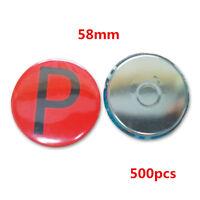 500pcs 58mm Blank Fridge Magnets Supplies for Badge Maker Machine