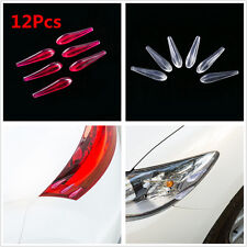 12x Car Anti-collision Strip Spoiler Drainage Plate Rectification Noise Reductio