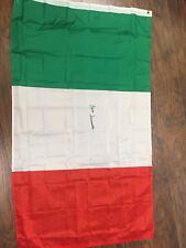 bruno sammartino signed Italian Flag 34x59