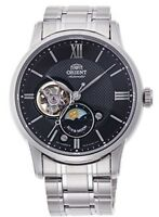 ORIENT Classic Semi Skeleton SUN & MOON Mechanical Watch RN-AS0001B Men's