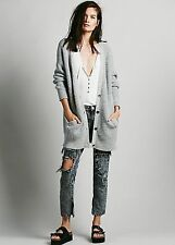 Free People Boyfriends Embrace Cardigan Gray Small