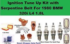 1980 BMW 320I E21 L4 1.8L Spark Plug Wire Set, Cap Rotor Oil Air Filter Tune Up