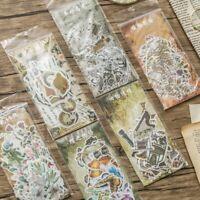 60Pcs Paper Stickers Cute Plant Diary Album Label Scrapbooking DIY Decal Decor