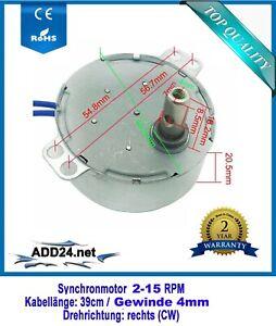 Synchronmotor, Pyramidenmotor, AC Motor 230V (2; 4; 10; 15 RPM/ CW rechtsdrehend