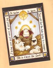 A Savior is born Baby Jesus Star Sheep Lamb Christmas Cards Box of 28^